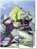 New Thunderbolts No.17 Cover: Swordsman and Baron Zemo Fighting Prints by Tom Grummett