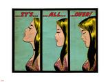 Marvel Comics Retro: Love Comic Panel, Crying, It's All Over! (aged) Lepicí obraz na stěnu