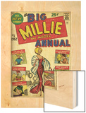 Marvel Comics Retro: Millie the Model Comic Book Cover No.1, the Big Annual (aged) Wood Print