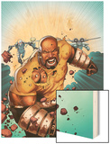 Thunderbolts No.168 Cover: Luke Cage Running Wood Print by Kev Walker