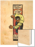 Marvel Comics Retro: Luke Cage, Hero for Hire Comic Panel, Charging Wood Print
