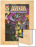 War Of Kings: Darkhawk No.1 Cover: Darkhawk Wood Print by Mike Manley