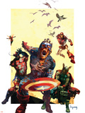 Marvel Zombies 2 Cover: Captain America, Iron Man, Wasp and Thor Plastic Sign
