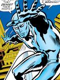 Marvel Comics Retro: Silver Surfer Comic Panel Print