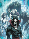 Marvel Zombies 3 No.4 Group: Morbius, Man-Thing, Werewolf By Night, Hellstrom and Daimon Plastic Sign by Kev Walker