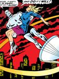 Marvel Comics Retro: Silver Surfer Comic Panel, Saving the girl Prints