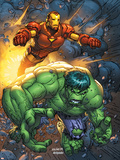 Marvel Team-Up No.4 Cover: Hulk and Iron Man Plastic Sign by Scott Kolins