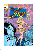 Marvel Comics Retro: My Love Comic Book Cover No.2, Crying and Dancing Plastic Sign