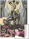 Secret Invasion: War Of Kings No.1 Cover: Black Bolt Wood Print by Brandon Peterson