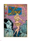 Marvel Comics Retro: My Love Comic Book Cover No.2, Crying and Dancing (aged) Lepicí obraz na stěnu