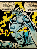 Marvel Comics Retro: Silver Surfer Comic Panel, Unleashing Power (aged) Print