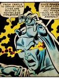 Marvel Comics Retro: Silver Surfer Comic Panel, Unleashing Power (aged) Prints