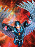War Of Kings: Darkhawk No.1 Cover: Darkhawk Plastic Sign by Brandon Peterson