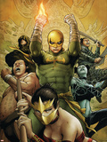 The Immortal Iron Fist No.22 Cover: Iron Fist Charging Plastic Sign by Patrick Zircher