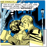 Marvel Comics Retro: Love Comic Panel, Kissing in the Park Prints