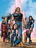 New Exiles No.1 Group: Sabretooth, Psylocke and Cat Crouching Wall Decal by Tom Grummett