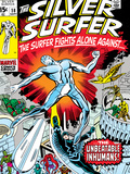 Marvel Comics Retro: Silver Surfer Comic Book Cover No.18, Against the Unbeatable Inhumans! Posters