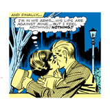 Marvel Comics Retro: Love Comic Panel, Kissing in the Park Wall Decal