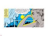 Marvel Comics Retro: Love Comic Panel, Alone at Window under Moonlight Plastic Sign