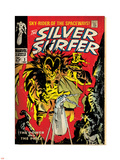 Marvel Comics Retro: Silver Surfer Comic Book Cover No.3, Fighting Mephisto (aged) Plastic Sign