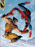 What If Spider-Man Vs. Wolverine No.1 Cover: Spider-Man and Wolverine Plastic Sign by John Romita Jr.