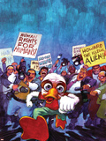 Howard The Duck No.4 Cover: Howard The Duck Plastic Sign by Juan Bobillo