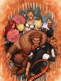 Thunderbolts No.170 Cover: Troll, Mr. Hyde, Moonstone, Satana, and Centurius Plastic Sign by John Tyler Christopher