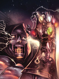 What if Secret Wars No.1 Cover: Dr. Doom Print by Giuseppe Camuncoli
