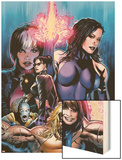 New Exiles No.1 Cover: Psylocke Fighting Wood Print by Greg Land