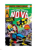 Nova: Origin Of Richard Rider - The Man Called Nova No.4 Cover: Nova and Thor Plastic Sign by Sal Buscema