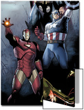 Siege No.1 Cover: Iron Man, Captain America and Thor Posters by Olivier Coipel