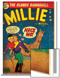 Marvel Comics Retro: Millie the Model Comic Book Cover No.34, Getting on a Horse (aged) Plakát