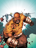 Thunderbolts No.168 Cover: Luke Cage Running Plastic Sign by Kev Walker