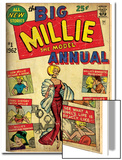 Marvel Comics Retro: Millie the Model Comic Book Cover No.1, the Big Annual (aged) Prints