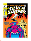 Marvel Comics Retro: Silver Surfer Comic Book Cover No.6, Worlds Without End! Plastic Sign