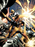 Power Man and Iron First No.1: Iron Fist and Power Man Fighting Wall Decal by Wellinton Alves