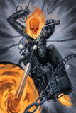 Thunderbolts 20 Cover: Ghost Rider Plastic Sign by Julian Totino Tedesco