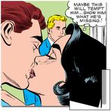 Marvel Comics Retro: Love Comic Panel, Kissing Posters
