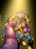 Thanos No.5 Cover: Thanos Plastic Sign by Jim Starlin