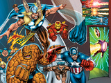Onslaught Reborn No.5 Group: Thor, Thing, Captain America and Iron Man Art by Rob Liefeld