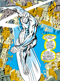 Marvel Comics Retro: Silver Surfer Comic Panel, Over the City Prints