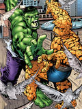 Marvel Adventures Super Heroes No.11: Hulk and Thing Fighting Posters by Ronan Cliquet