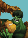 Marvel Adventures Super Heroes No.11 Cover: Thing and Hulk Fighting Prints by Ricardo Tercio