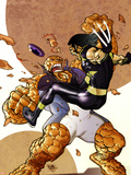 Ultimate Fantastic Four/ X-Men No.1 Part 2 Cover: Wolverine and Thing Plastic Sign by Pasqual Ferry