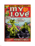 Marvel Comics Retro: My Love Comic Book Cover No.14, Woodstock (aged) Plastic Sign
