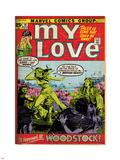 Marvel Comics Retro: My Love Comic Book Cover No.14, Woodstock (aged) Plastic Sign