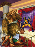 Wolverine/Hercules: Myths, Monsters & Mutants No.2 Cover: Wolverine and Hercules Fighting Plastic Sign by Joe Jusko