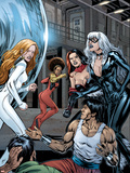 Heroes For Hire No.7 Group: Black Cat, Knight, Misty, Tarantula, Shang-Chi, Wing and Colleen Plastic Sign by Al Rio