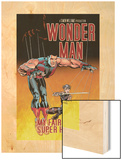 Wonder Man No.3 Cover: Wonder Man and Ladykiller Wood Print by Andrew Currie