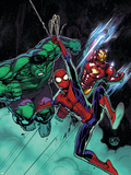 Free Comic Book Day No.1 Cover: Spider-Man, Iron Man and Hulk Wall Decal by David Nakayama